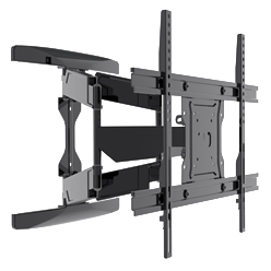 Heavy-duty low-profile full motion TV bracket for Curved TV & Flat Panel TV up to 84 inch