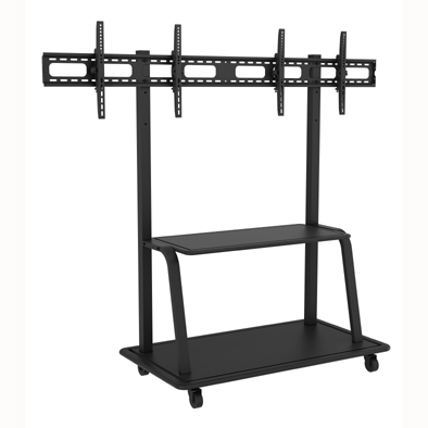 Professional Mobile TV Trolley- dual mounts