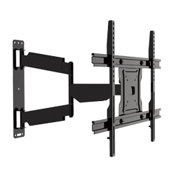 Heavy-duty low-profile full motion TV bracket for Curved TV & Flat Panel TV up to 70 inch
