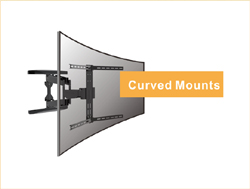 Mounting bars swing to close more to the curved screen